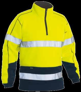 22 23 BK6819T TAPED HI VIS FLEECE HOODIE BK6819 HI VIS FLEECE HOODIE BK6989T TAPED HI VIS FLEECE ZIP PULLOVER BK6989 HI VIS FLEECE ZIP PULLOVER BK6889 HI VIS POLAR FLEECE ZIP PULLOVER COLD WEATHER