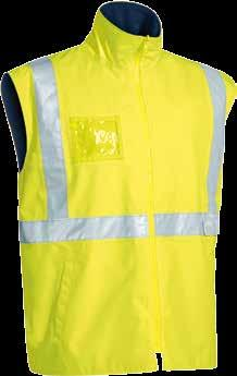 16 17 WATERPROOF BJ6966T TAPED HI VIS RAIN SHELL JACKET Waterproof and breathabe fabric Waterproof