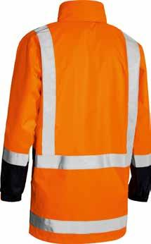 around body with X back for NSW Rail compliancy All seams are   Polyester Mesh Lining : BV0375T HI VIS