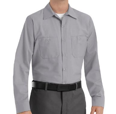 finish Features: Two-piece, lined collar with sewn-in stays Closure: Six-button front with gripper at