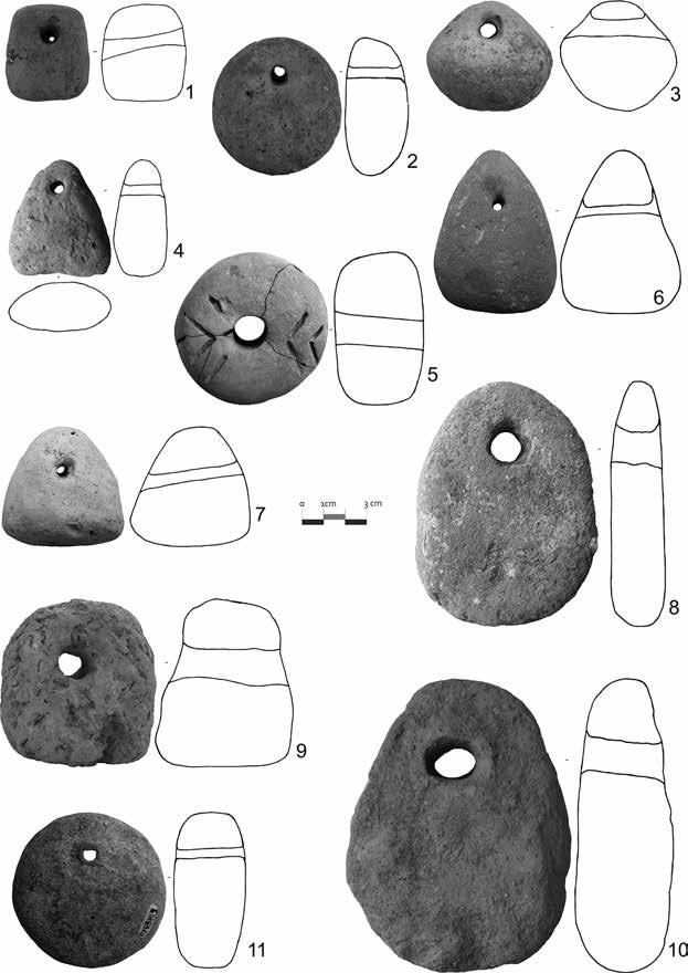 1. Investigating Neolithic and Copper Age Textile Production in Transylvania 35 Fig. 1.24: Examples of loom-weights found in Neolithic and Copper Age sites: 1. BRB.