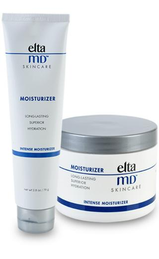 EltaMD Moisturizer EltaMD Intense Moisturizer melts on contact and retains 90% of skin s moisture for at least 12 hours. It applies easily and gently to avoid disturbing tender, irritated skin.