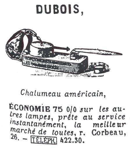 The nameplate is marked: CHALUMEAU AMÉRICAIN BREVETÉ A.F.