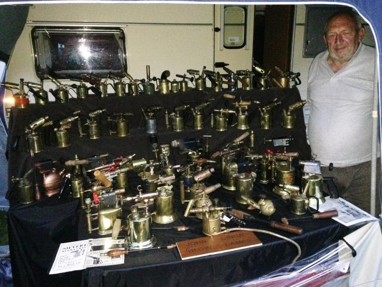ONSLOW PARK RALLY, SHREWSBURY From Caroline Rhodes Always on the lookout for blowlamp collectors, Caroline was evidently on a mission to find more: We found out that there was one person there with a