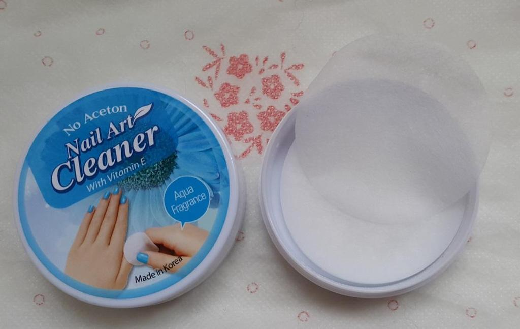 then scrub. 4. For 1 pad you can Clean 3~5 nails.