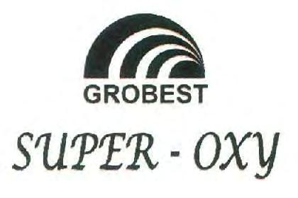 Trade Marks Journal No: 1857, 09/07/2018 Class 1 2776647 18/07/2014 GROBEST FEEDS CORPORATION (INDIA) PVT LTD trading as ;GROBEST FEEDS CORPORATION (INDIA) LTD NEW NO. 26, OLD NO.