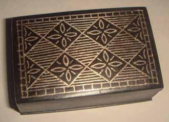 Fig. 17. Small bidri box from the Indian state of Karnataka, inlaid with silver.