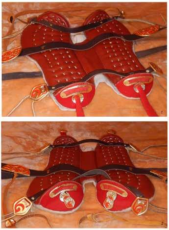 The reconstruction of the saddle set from Pazyryk Barrow 3 We selected the set with the plainest decoration for our reconstruction.