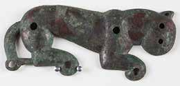 112. Feline-shaped pectoral ornament. Bronze. 6 th 5 th century BCE. MUAM no. 2015.2.39; Sackler no.