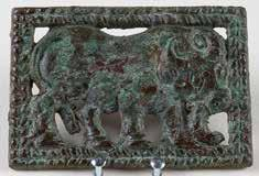 The Xiongnu Period in Northern China 218a. Buckle plaque with standing ox (pair with 218b).