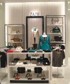 The ZAZIE brand brings elegance to everyday fashions, the Real Riche brand targets working women, and the enraciné brand offers casual wear for relaxed settings.