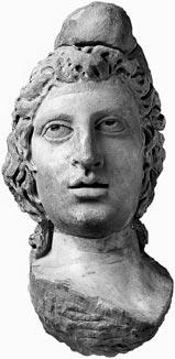 Londinium and its hinterland: the Roman period The archaeological evidence The head of Mithras excavated from the Temple of Mithras, City of London, in 1954.