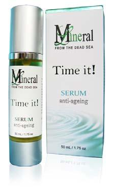 Face Treatment TIME IT! ANTI-AGEING EYE GEL (Plastic bottle, boxed, 30 ml / 1 oz) Mineral Line new Time it!