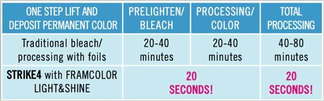 THE PROCESSING TIME IS REDUCED TO 20 SECONDS WITH STRIKE4 WITH RESULTS COMPARABLE OR BETTER THAN STANDARD 40-80 MINUTE PROCESSING TIME! 2. HOW DOES FRAMCOLOR 2001 LIGHT&SHINE WORK?
