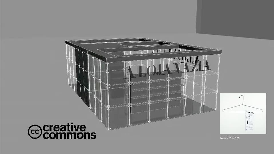 Commons license. The shop's floor plan, key visuals and communications kits were made available online to anyone interested in using them.