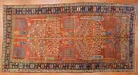 $2500-3500 925 Antique Kuba rug, approx 41 x 55 Caucasus,