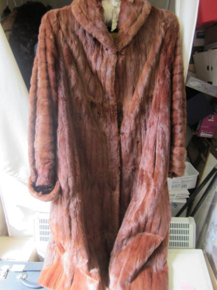 Vintage full length real fur