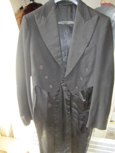 black wool men's tails coat