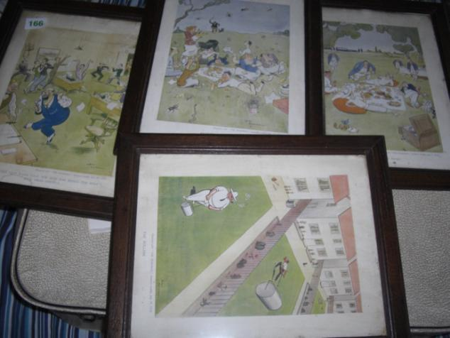 4 old framed prints Circa 1930 from