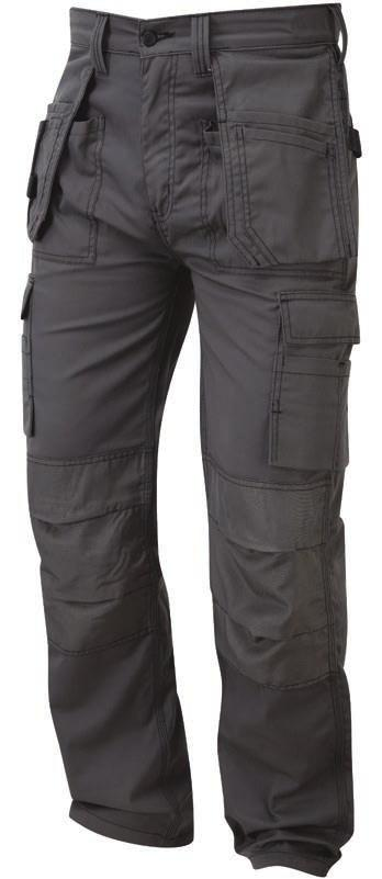 including two front, two rear and combat leg and rule pockets Part elasticated waistband for