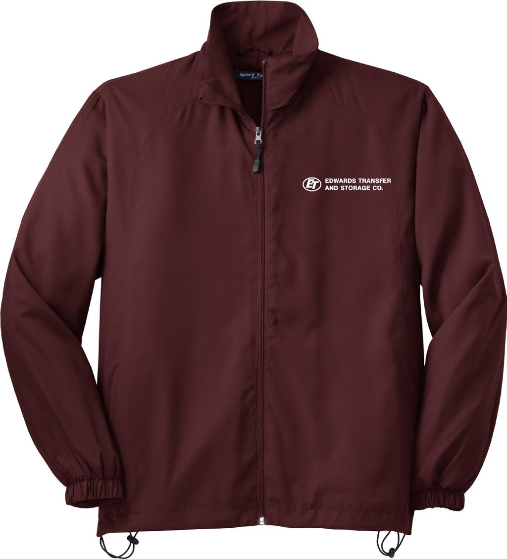 15* SPORT-TEK UNISEX FULL ZIP WIND JACKET / ITEM #ET-943 100% Polyester shell with jersey lining with mesh inset at gussets for added breathability.