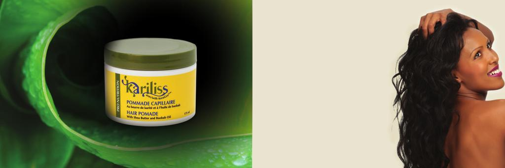 Kariliss Hair Pomade is a beautifying haircare enriched with KeraGro, an exclusive compound with Shea Butter and a naturally derived growth stimulator.