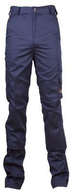 Min. Order : 5,000 units/color 65% Polyester 35% Cotton twill, 245 gsm 6 Pockets + Knee Pad Pockets, 1 Rear Pocket with