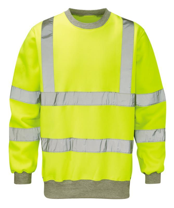 50% Polyester and 50% Cotton knitted fabric. EN471 (class-3) & ANSI compliant and OEKO-TEX certified Reflective Tape. Knitted Collar, Cuffs and waist Min.