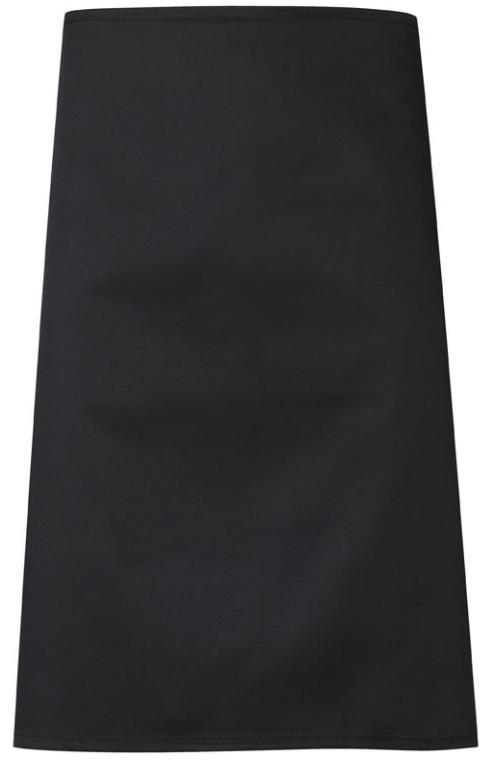 Fixed neck strap A good length knee apron, practical and stylish in a restaurant or kitchen
