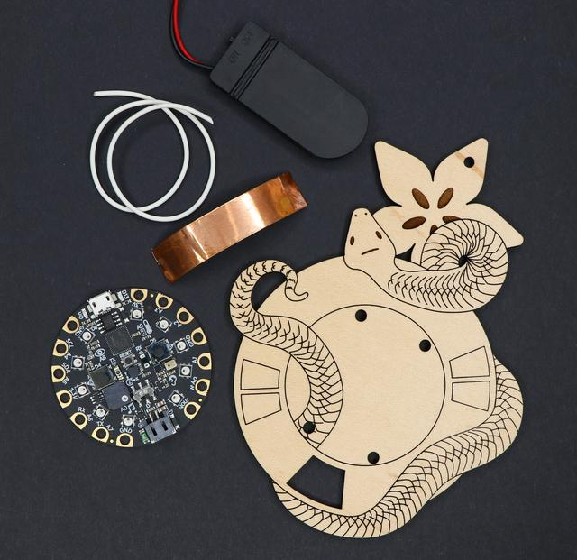 Tools & Materials You'll need: Circuit Playground Express Copper Foil Tape Solid-Core Wire or Magnet Wire 2x 2032 Coin cell battery holder or small lipo battery double sided tape or small zip ties