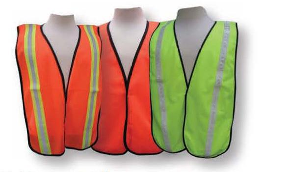 elastic side straps for fitting size 2X/3XL Tight woven vest A1700 ORANGE / A1701 LIME with 2 wide