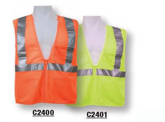 ANSI CLASS II C2400 ORANGE / C2401 LIME Zipper