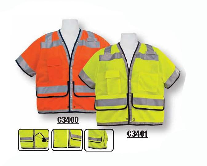 ANSI CLASS III CP3700 ORANGE / CP3701 LIME Long sleeve tees I 100% ANSI certified breathable fluorescent polyester micro mesh fabric Left chest pocket for convenience Size : S-4XL C3WIN9001 LIME