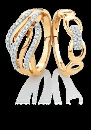 NEW Diamond ring, 10kt gold 399 15133441 u. 0.