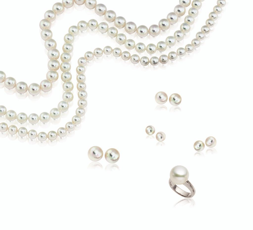 A G All items available in variety of sizes and lengths. A. &. ultured pearl strand necklaces starting from $650.