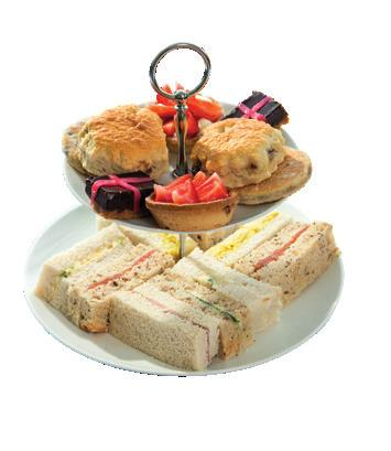 finger sandwiches, cakes and tartlets served in the relaxed atmosphere of the