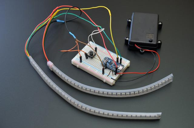 If you have a spare 5V Pro Trinket to spare, we strongly encourage you to build a prototype of your circuit on a solderless breadboard.
