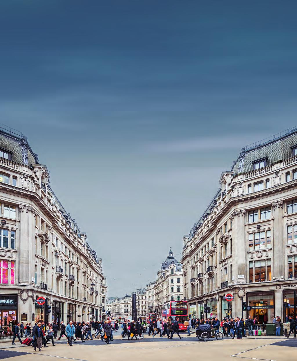 Oxford Street, Long cre and heapside Oxford Street records the highest footfall in our survey.