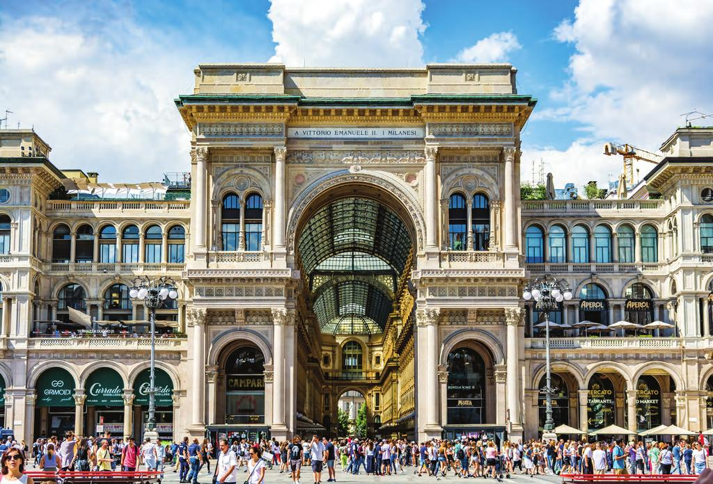 Milan, global fashion capital, deeply influences retailing worldwide ity 1.35 Metropolitan region 4.29 every year, Milan is one of the most cosmopolitan cities in urope.