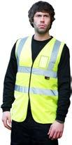 5 High-Visibility Clothing Work & Corporate Wear page 45 Hi Vis Double Band Vest code: AC041MM HV HV HV HV Conforms to EN 471 100% polyester fabric Velcro fastening Hi Vis Vest with ID Pocket code:
