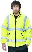 5 High-Visibility Clothing Work & Corporate Wear page 43 Hi-Vis Hudson Fleece Jacket code: AC204 EN 471 fleece jacket Full zip