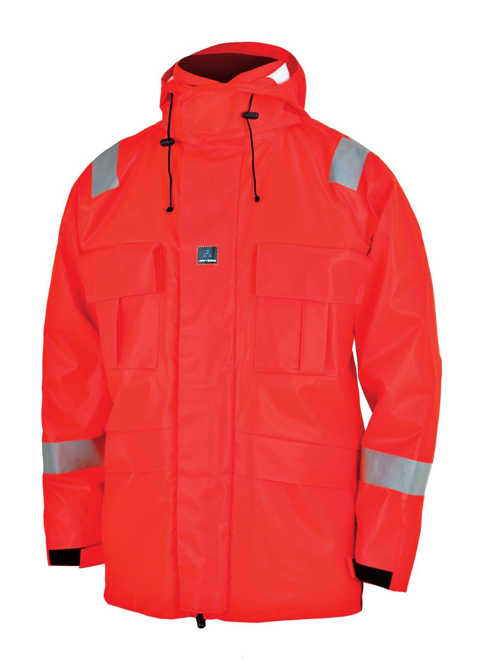 The waterproof clothing in this series is produced in a soft knitted polyester PU.