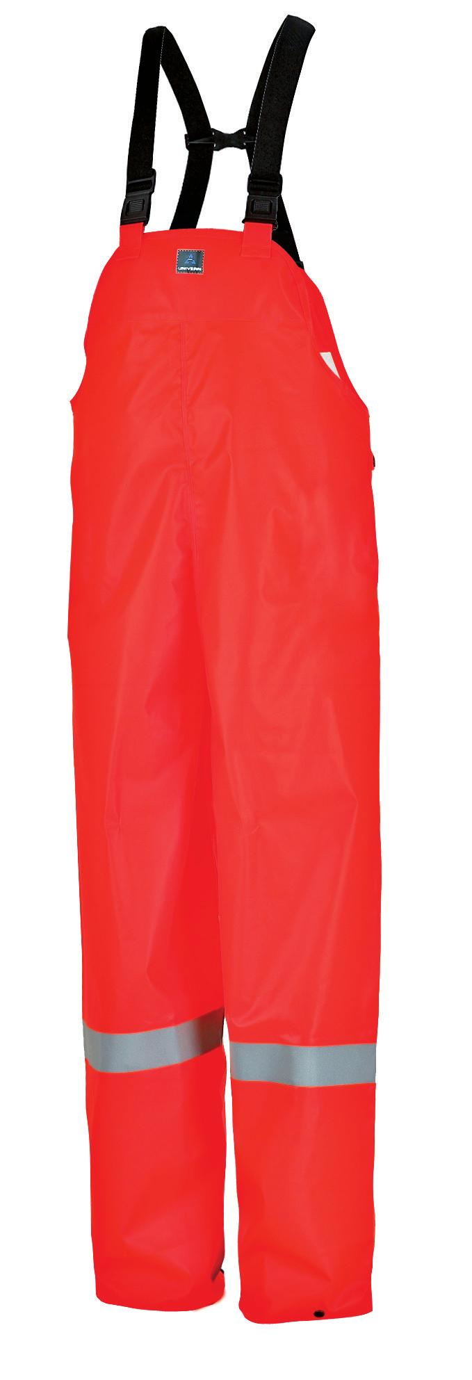 FR5513-05 Orange Reversible trousers 5 cm grey reflective strip around legs Sizes S-XXXL Quality: Flame retardant PU on knit polyester Weight: 180 gram/m 2 CE: EN ISO 14116 EN 343 Offshore flame