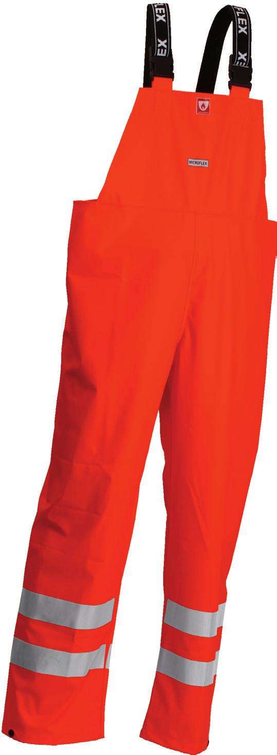 FR-LR9456-05 Orange Microflex flame-retardant Hi-Viz rain parka High frequency