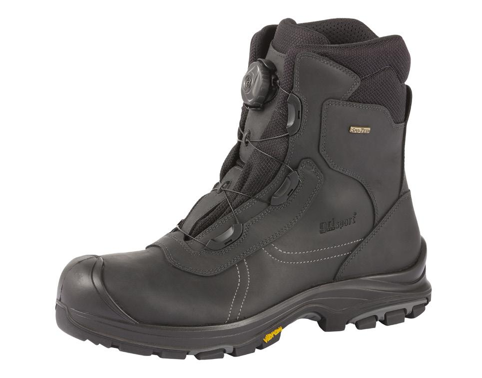steel surfaces (SRC) Composite midsole and toecap Sizes: 36-47 CE: EN ISO 20345 Boa lace ancle boot Art. 74673C S3 For outdoor and indoor use, construction, oil and gas etc.