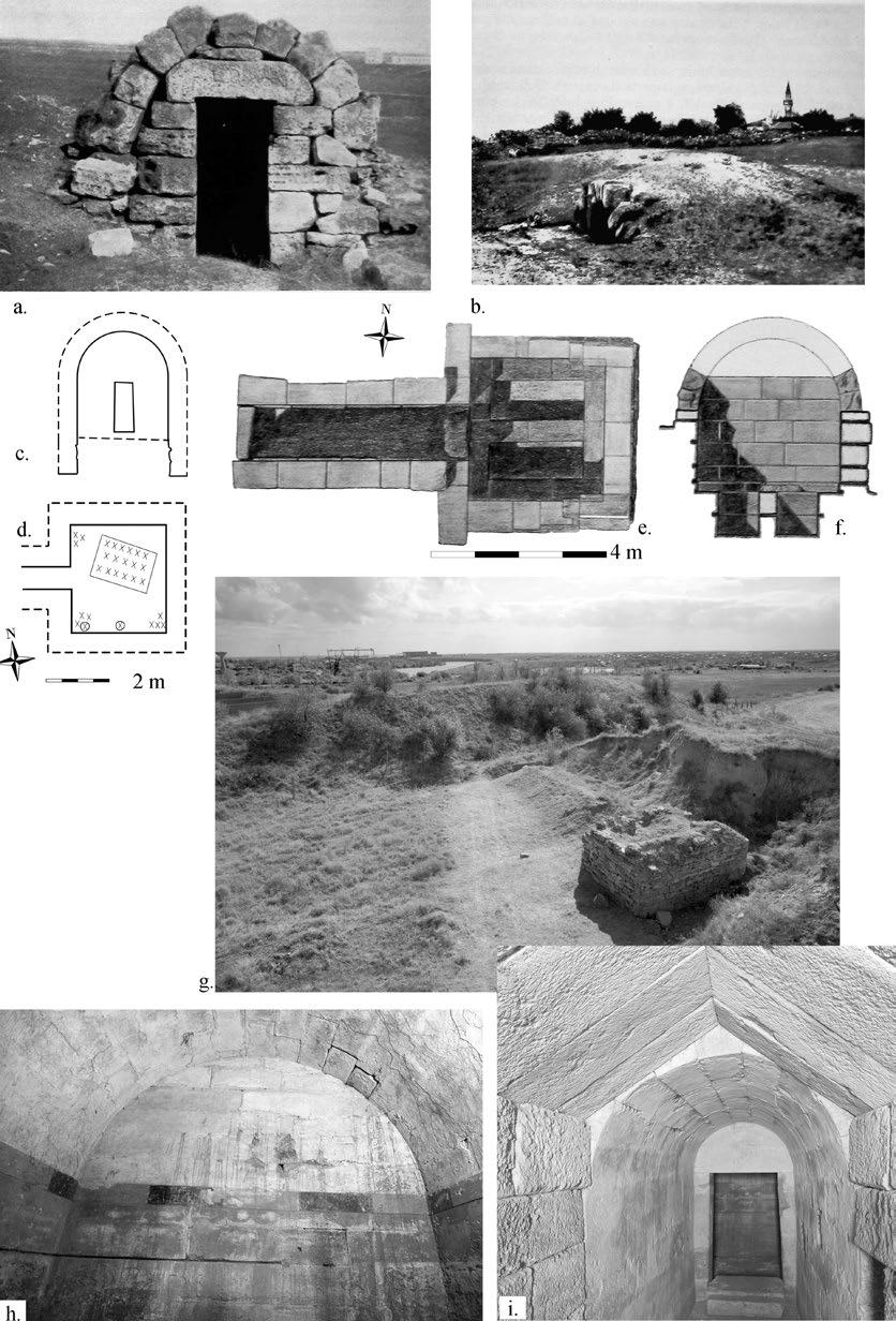 Later Prehistory to the Bronze age: 2. Aegean Mediterranean imports and influences Figure 1. Barrel-vaulted tombs around Kallatis: a T1 (after Preda 1962, 165, fig.