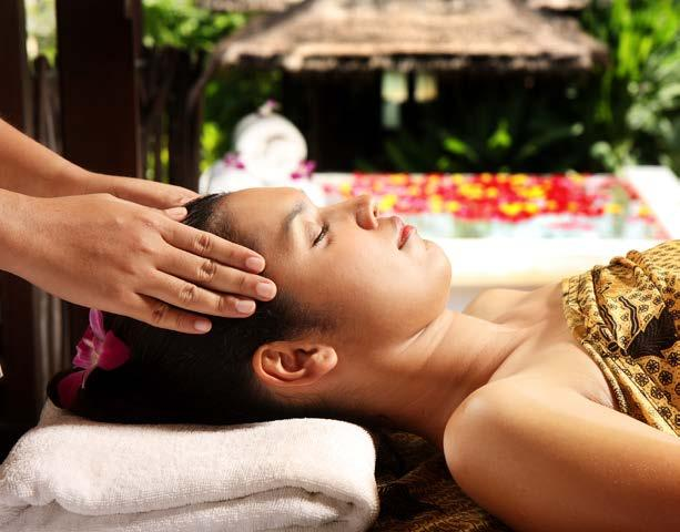 6,500 Herbal Steam Body Scrub of your choice or Body Wrap of your choice Aromatic Hot Oil Massage Indian Head Massage The V Refreshing Package 180 mins / THB 7,000 Relaxing