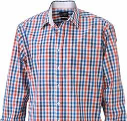 blue-orange- navy/ red-navy- Fashionable checked shirt with