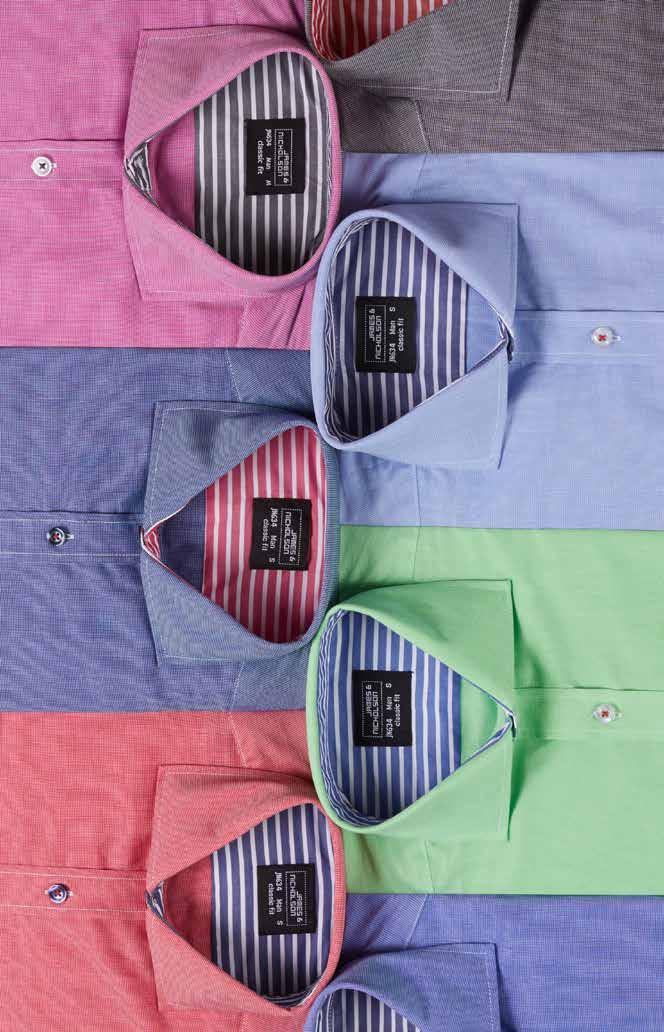 navy/red- light-blue/navy- purple/graphite- graphite/red- JN 634 MEN S SHIRT Shirt in fashionable dot pattern