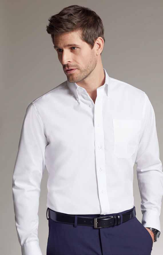 NON IRON FINISH NON IRON FINISH The button-down shirt can be